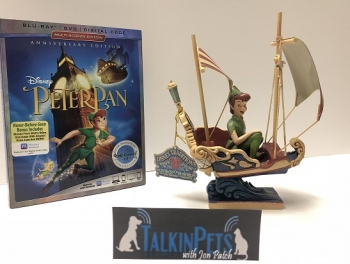 """Experience the Magic of Disney's Beloved Flight of Fantasy:  """"Peter Pan"""" Soars Into the Walt Disney Signature Collection and you can win from Disney the Peter Pan DVD and figurine this Saturday 7/7/2018 on Talkin' Pets 5-8pm EST"""
